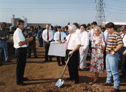 Ground Breaking for Signal's First Heavy Fabrication Facility in 1990