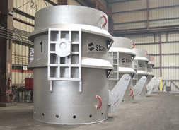 Signal Designed & Manufactured 100 Ton Steel Mill Ladles