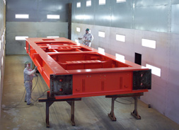 Signal Paint Booth with Drilling Rig Main Frame